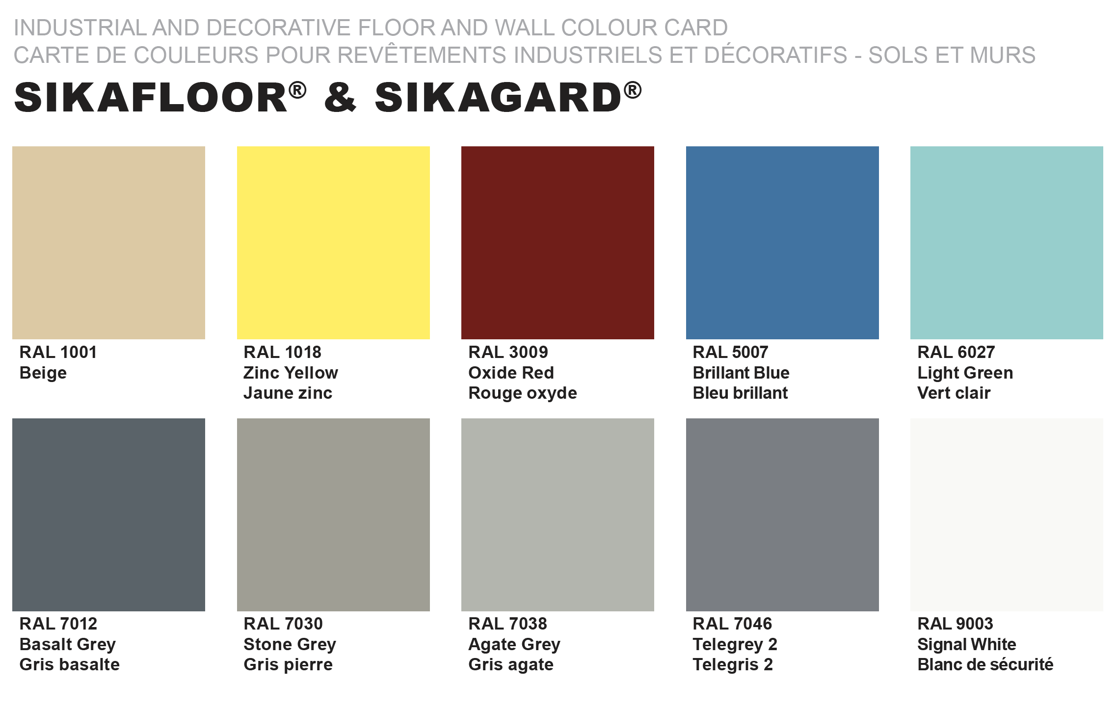 Sika Floor Color Chart Carpet Vidalondon